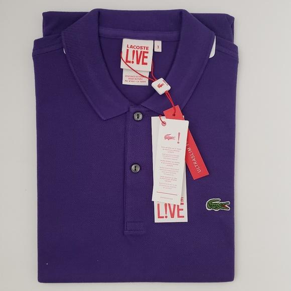 82ae46dd Lacoste Live Short Sleeve Polo Shirt - Purple NWT